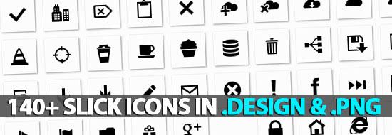 140+ Slick Icons (Vector, Black, White & xaml) Icons