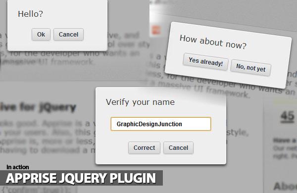 apprise-jquery-plugin