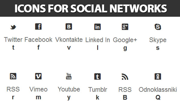 Icons for social networks