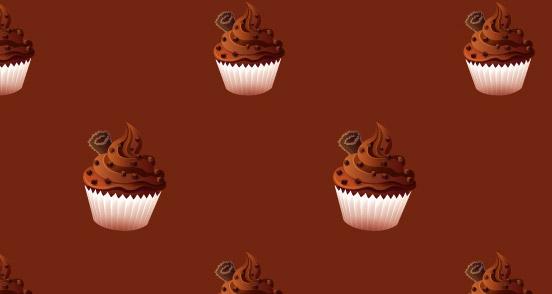 Chocolate Cupcake Pattern Design