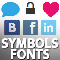 Post thumbnail of Vector Web Symbols Typeface: Free Dingbat Font For Web Apps