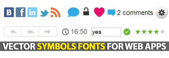 Vector Web Symbols Typeface: Free Dingbat Font For Web Apps