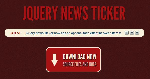 jQuery News Ticker Plugin