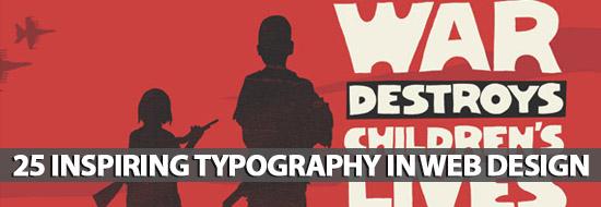 25 Fresh Inspiring Typography In Web Design