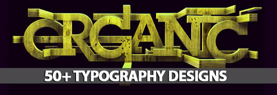 50+ Typography Designs Stunning & Inspiring