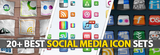 20+ Best Social Media Icon Sets In 2011