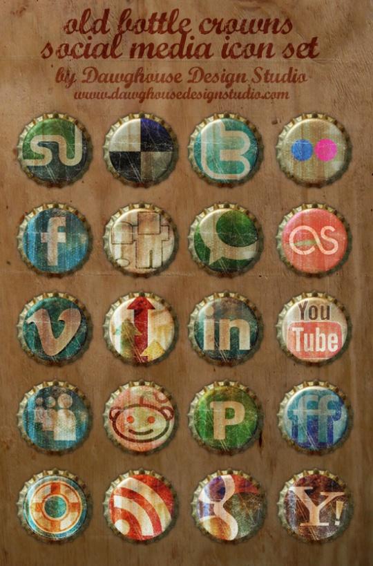 35+ Circular Social Media Icon Sets