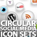 Post thumbnail of 35+ Circular Social Media Icon Sets