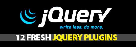 12 Fresh jQuery Plugins