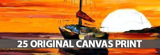 25 Original Canvas Print