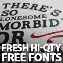 Post thumbnail of Free Fonts: 40 Fresh Hi-Qty Free Fonts