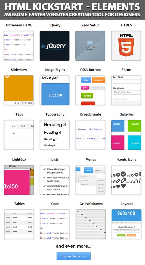 Awesome Faster Websites Creating Tool For Designers
