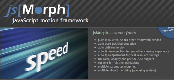 Powerful js Animation Framework jsMorph