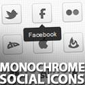 Post thumbnail of Freebie: 30 Monochrome Social Icons