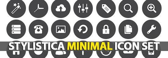 Stylistica Minimal Icon Set (115 Icons)
