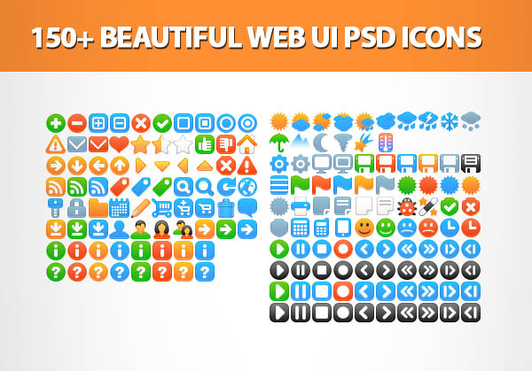 Beautiful Web UI PSD Icons