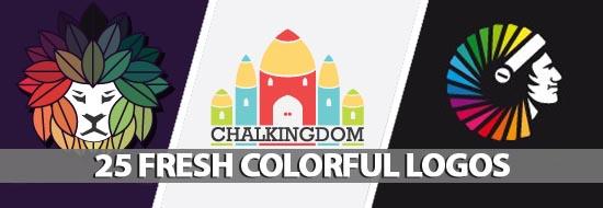 25 Fresh Colorful Logos