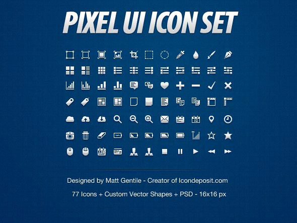 Hand Crafted Pixel UI Icons Set
