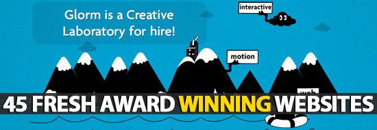 45 Fresh Award Winning Websites