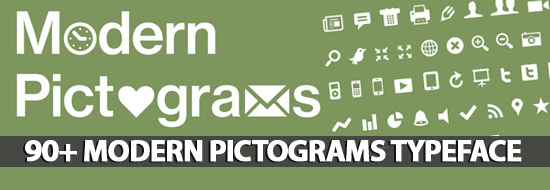 Post image of 90+ Modern Pictograms Typeface For Interface Designers