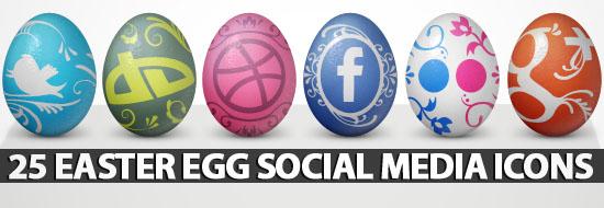 25 Easter Egg Social Media Icons
