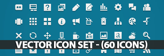 Post image of Vector Icon Set – (60 Icons)