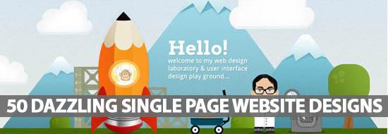 50 Dazzling Single Page Website Designs