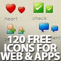 Post thumbnail of Free Icon Set (120 Icons) Perfect for Web & Apps