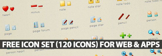 Post image of Free Icon Set (120 Icons) Perfect for Web & Apps