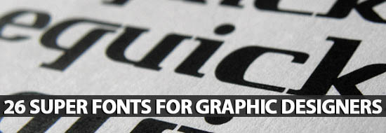Free Fonts: 26 Super Fonts For Graphic Designers