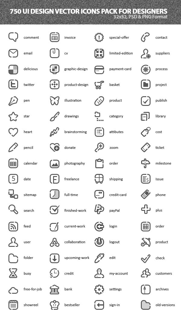 Vector Icons Pack 2