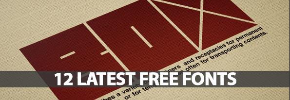12 Latest Free Fonts