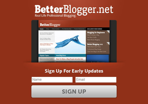 Better Blogger Coming Soon Page Design
