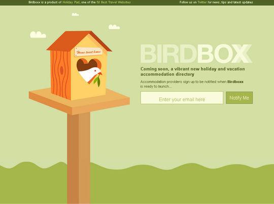 BirdboxxComing Soon Page Design