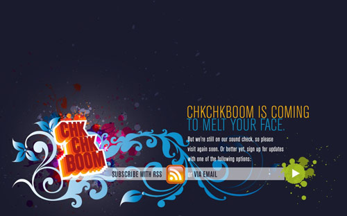 Chk Chk Boom Coming Soon Page Design