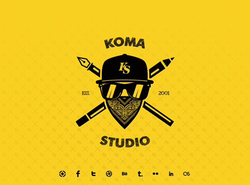 Koma Studio Coming Soon Page Design