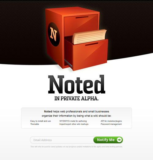 Note Wiki Coming Soon Page Design