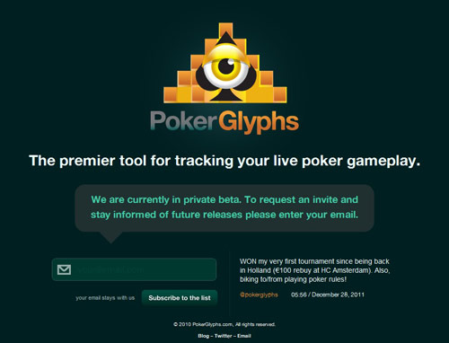 Poker Glyphs Coming Soon Page Design