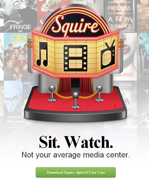 Squire Coming Soon Page Design