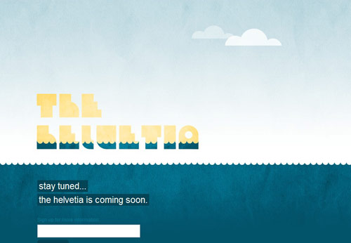 The Helvetia Coming Soon Page Design