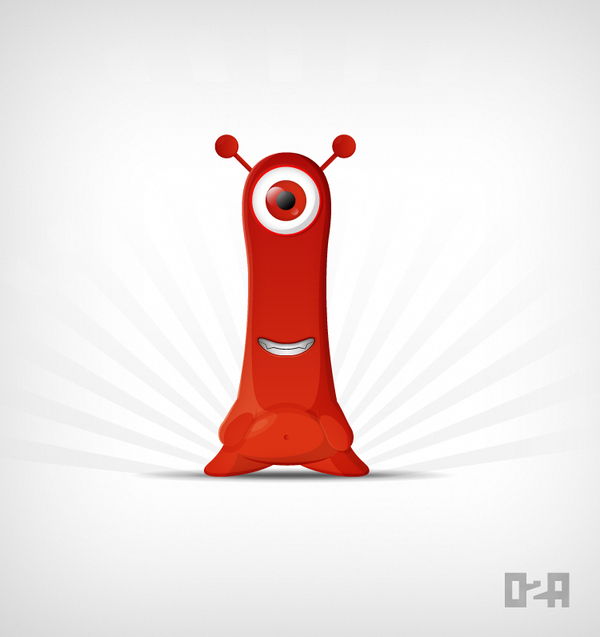 O2a Monster mascot