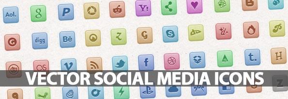 110 Vector Social Media Icons – Freebie