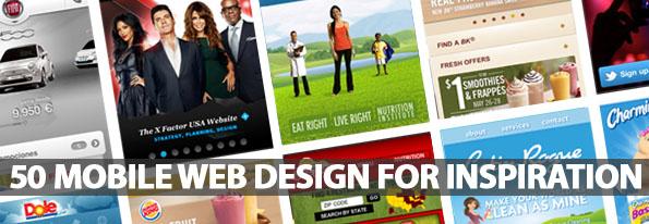 50 Mobile Web Design For Inspiration