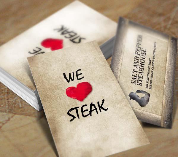 Restaurant Business Card Design