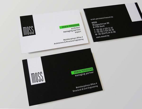 Moss business cards