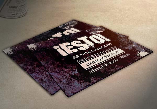 Creative Retro Business Card Design