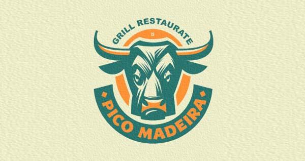Bull Resturant logo design