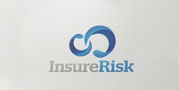InsureRisk Corporate identity branding logo design