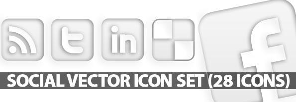 Free Social Vector Icon Set (28 Icons)