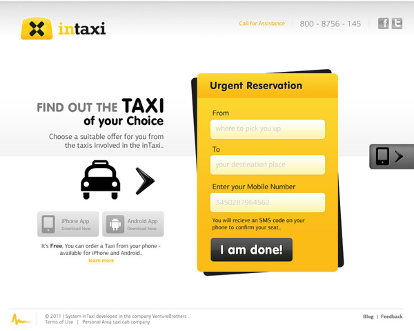 inTaxi Web Interface